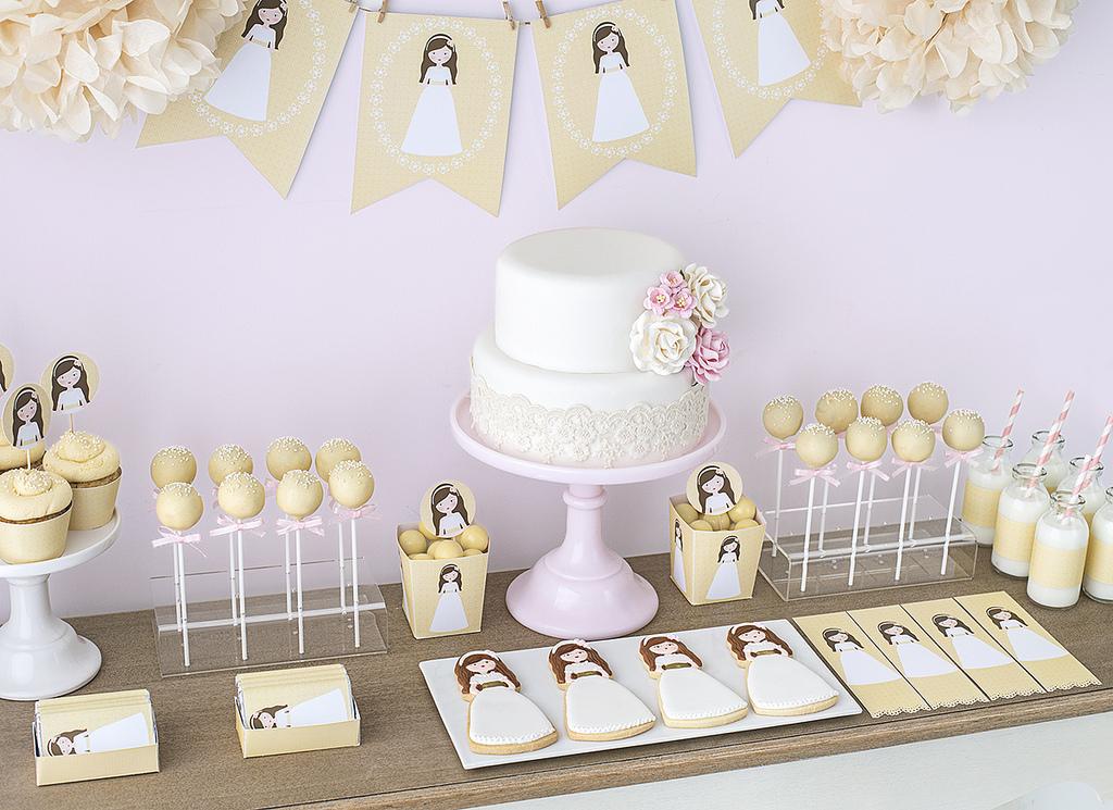 10 tips para preparar una mesa dulce para comuniones - Como decorar una mesa de comunion ...