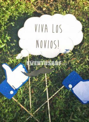 Goma Eva Básico Facebook + mensaje personalizado - 14 piezas