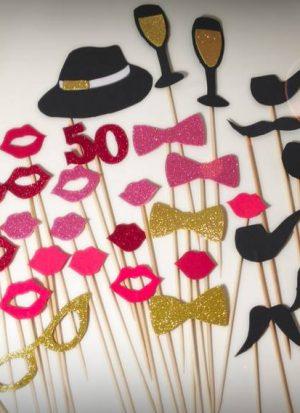 Goma Eva Pack Cumpleaños + número personalizado - 40 piezas