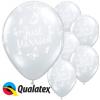 50 globos látex transparentes 'Just Married' 41 cm