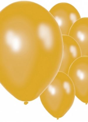 50 globos oro metálico 30 cm
