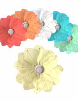 6 linternas flotantes de papel forma flor