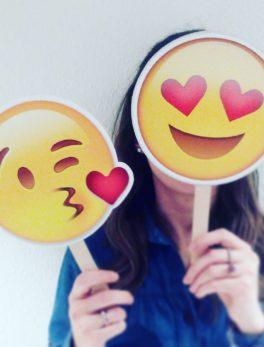 Pack 7 emojis grandes para photocall 21 cm
