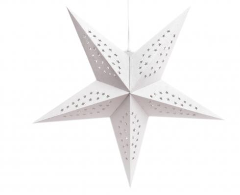 Estrella decorativa blanca 46 cm
