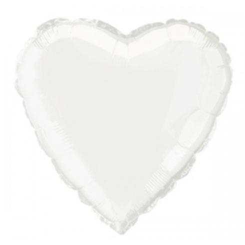 Globo mylar corazón blanco