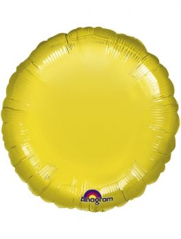 Globo redondo 45 cm amarillo - Foil Poliamida (5 Unidades)