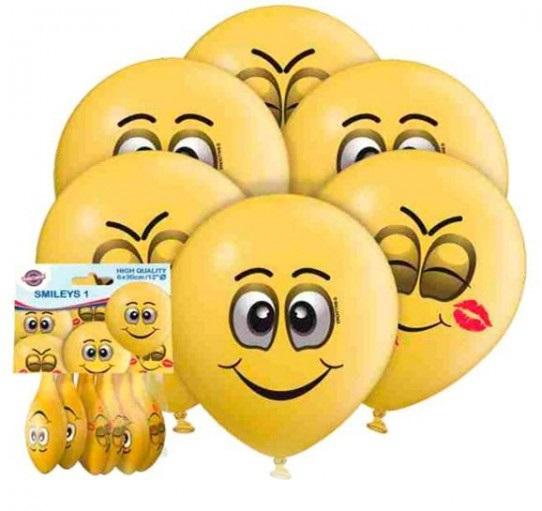 Globos redondos Smileys