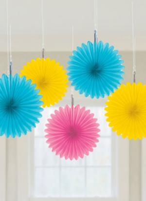 5 faroles flor colgante colores surtido