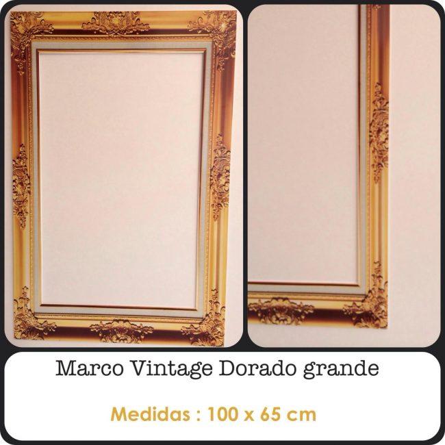 Marco Vintage Dorado Grande