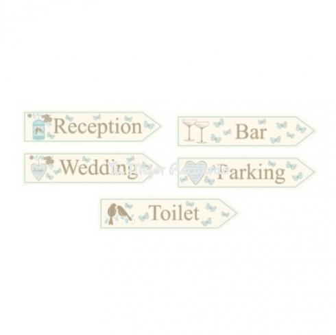 5 señales de boda love forever