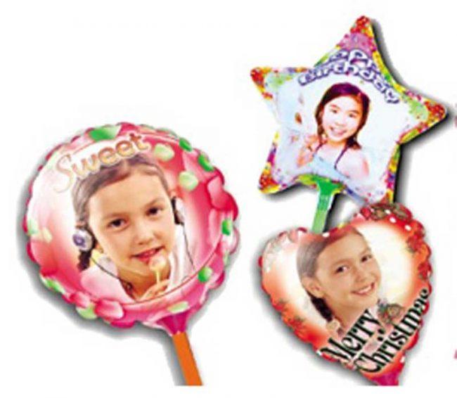 Kit de globos personalizados tamaño A4