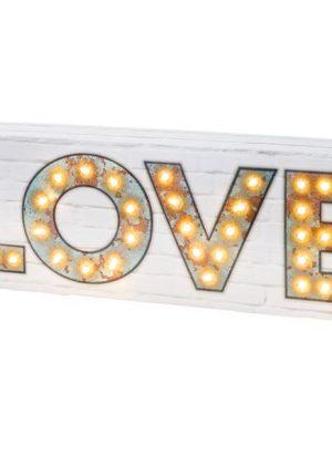 Cartel LOVE con Luz