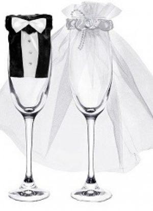 Set cubre copas boda