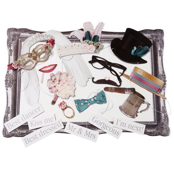 Photobooth boda 20 piezas con marco