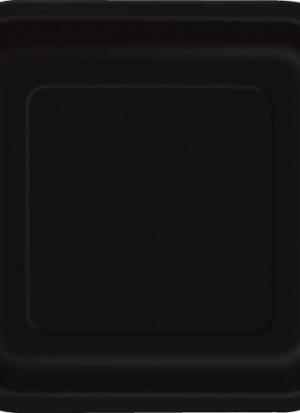 14 platos cuadrados negros 23 cm