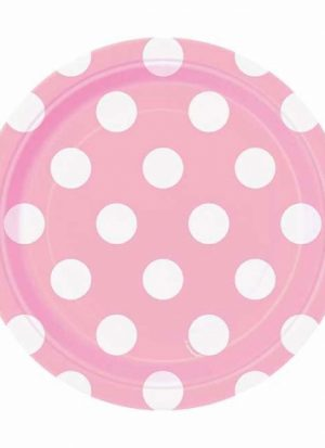 8 platos topos rosa 18 cm