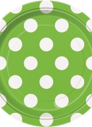 8 platos topos verde 18 cm
