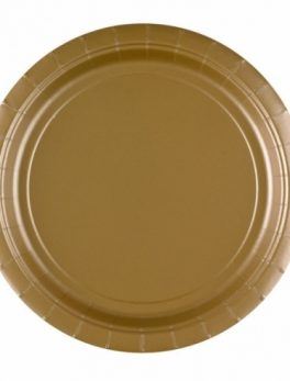 8 platos oro 23 cm