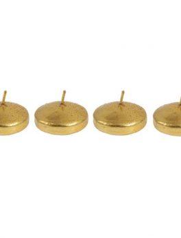 Caja 4 velas flotantes oro