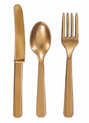 Surtido 24 cubiertos Oro
