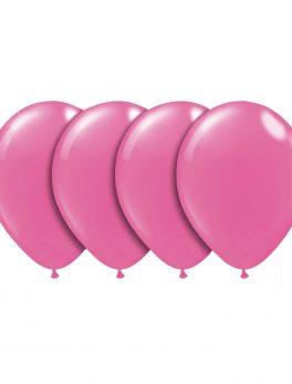100 globos rosa fucsia 25cm