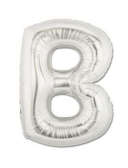 Globo forma letra B plata