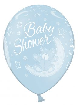 10 globos baby shower azul