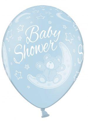 10 globos baby shower azul