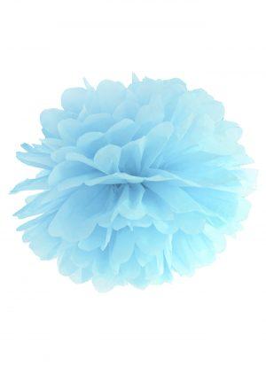 Pompón papel azul celeste 25 cm