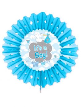 Abanico de papel it's a boy 45 cm
