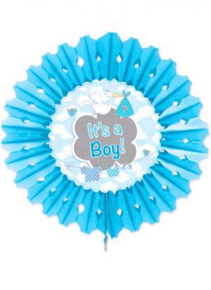 Abanico de papel it's a boy 45 cm