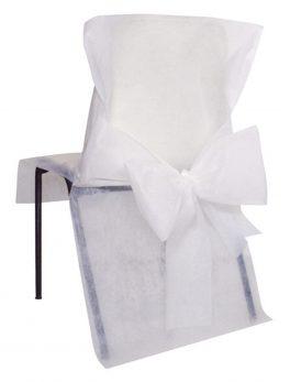 10 cubre sillas con nudo blanco