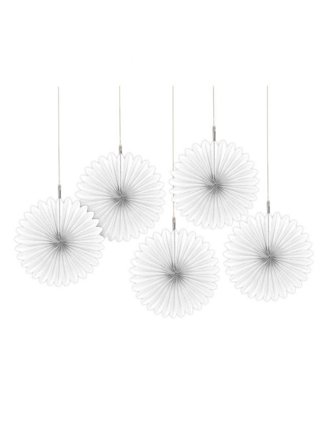 5 faroles flor blanco