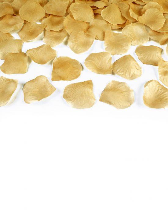100 pétalos dorados para boda