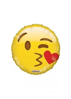 Globo emoticono besos 45cm