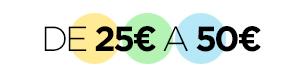 De 25€ a 50€