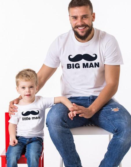 E Camisetas Hijo Big Blanco Man Little Boy Padre YWE29IDHe