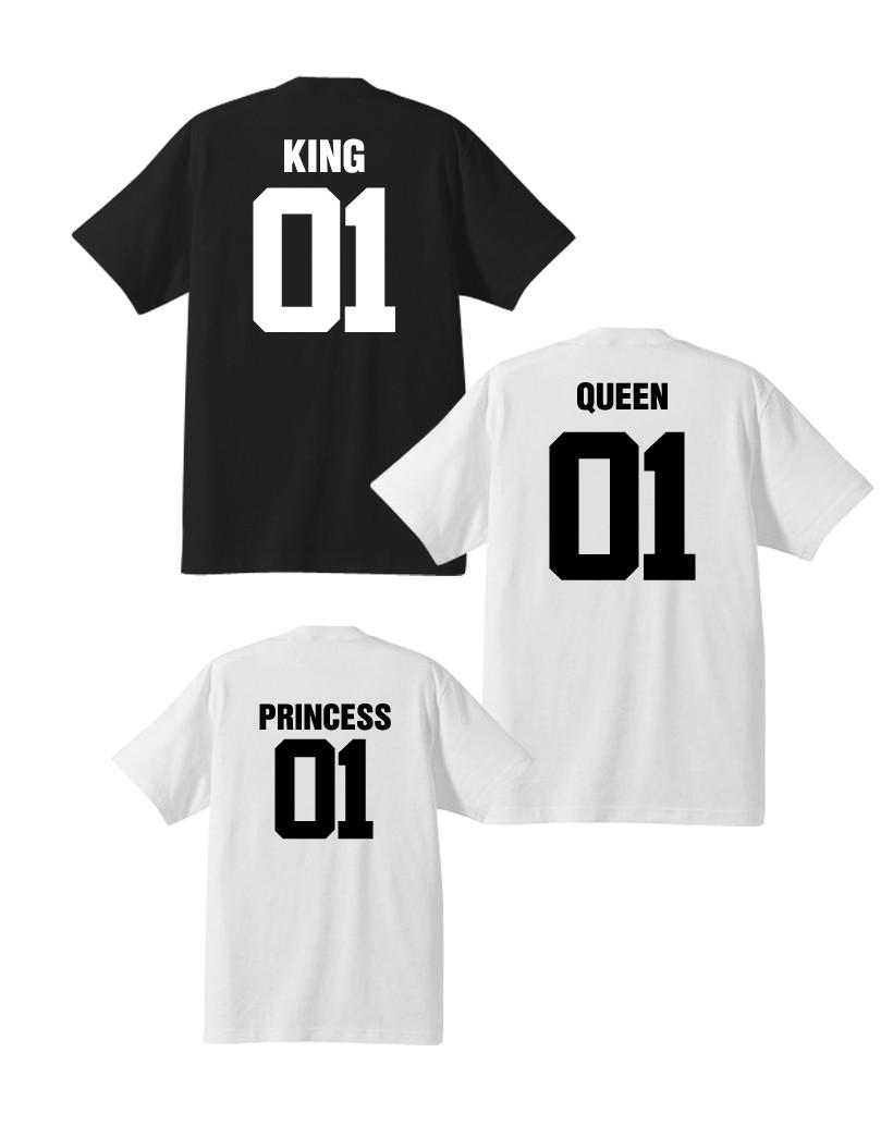 clásico zapatillas ahorre hasta 60% Pack de 3 camisetas King + Queen + Princess